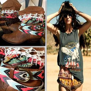 Upcycled Vintage Genuine Leather Boho Boots